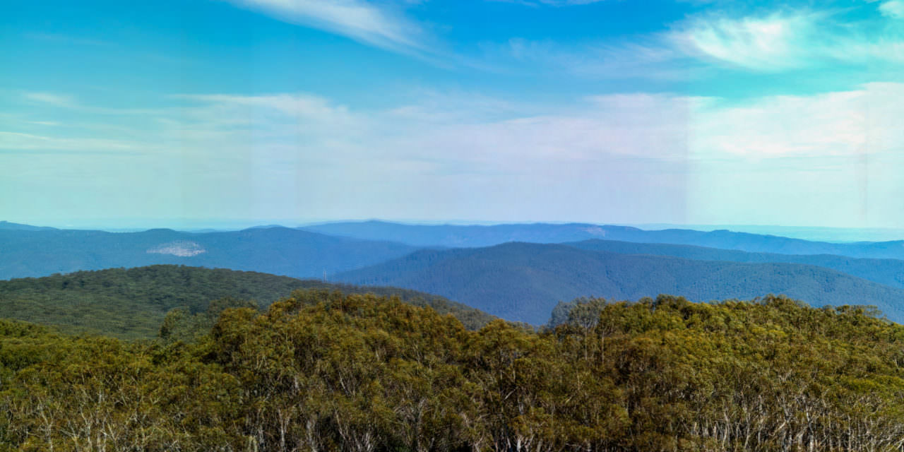 Panorama of the Summit of Mount Donna Buang