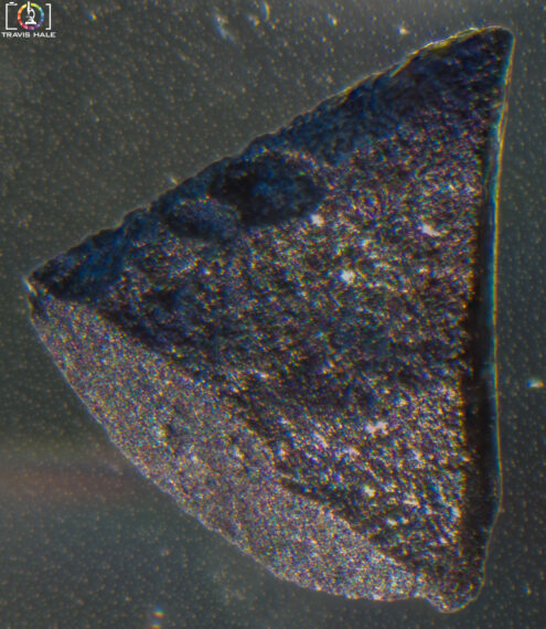 A look at a peice of Activated Carbon under the microscope.