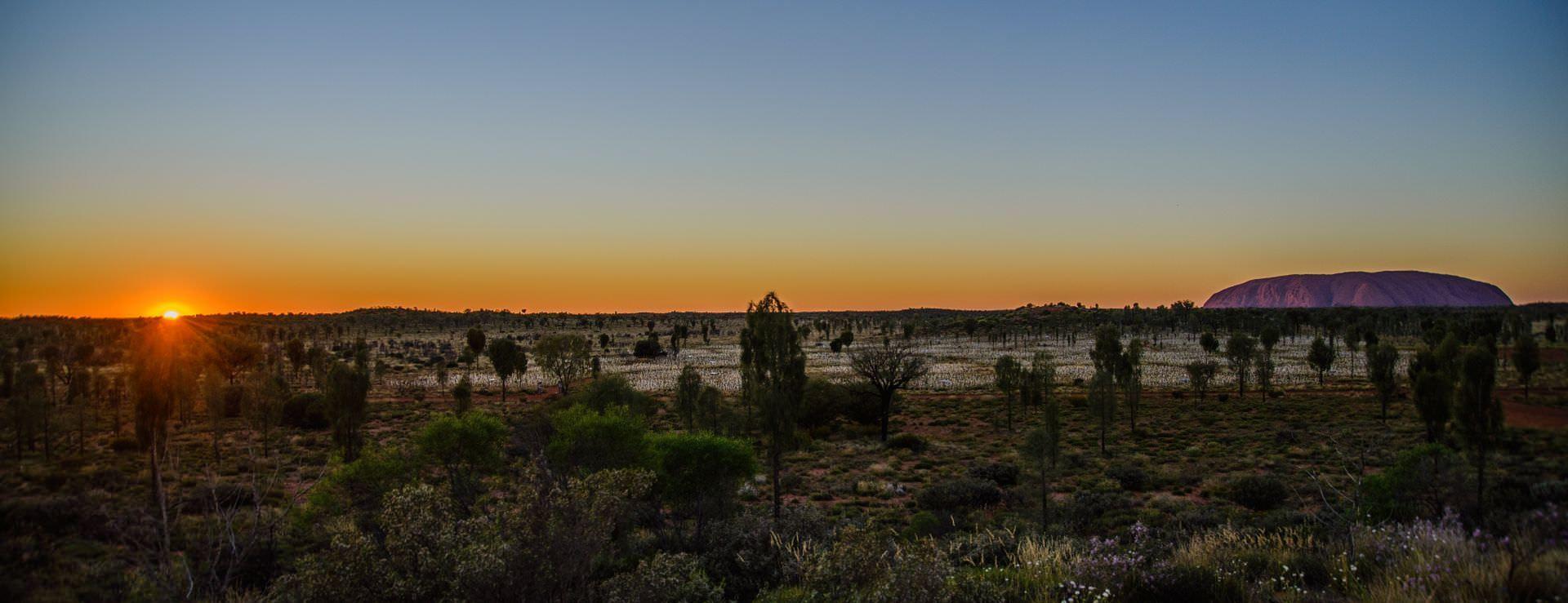 Sunrise over Uluru