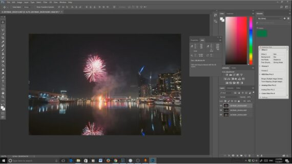 Compositing Fireworks photos with Lightroom and Photoshop CC – Youtube Video