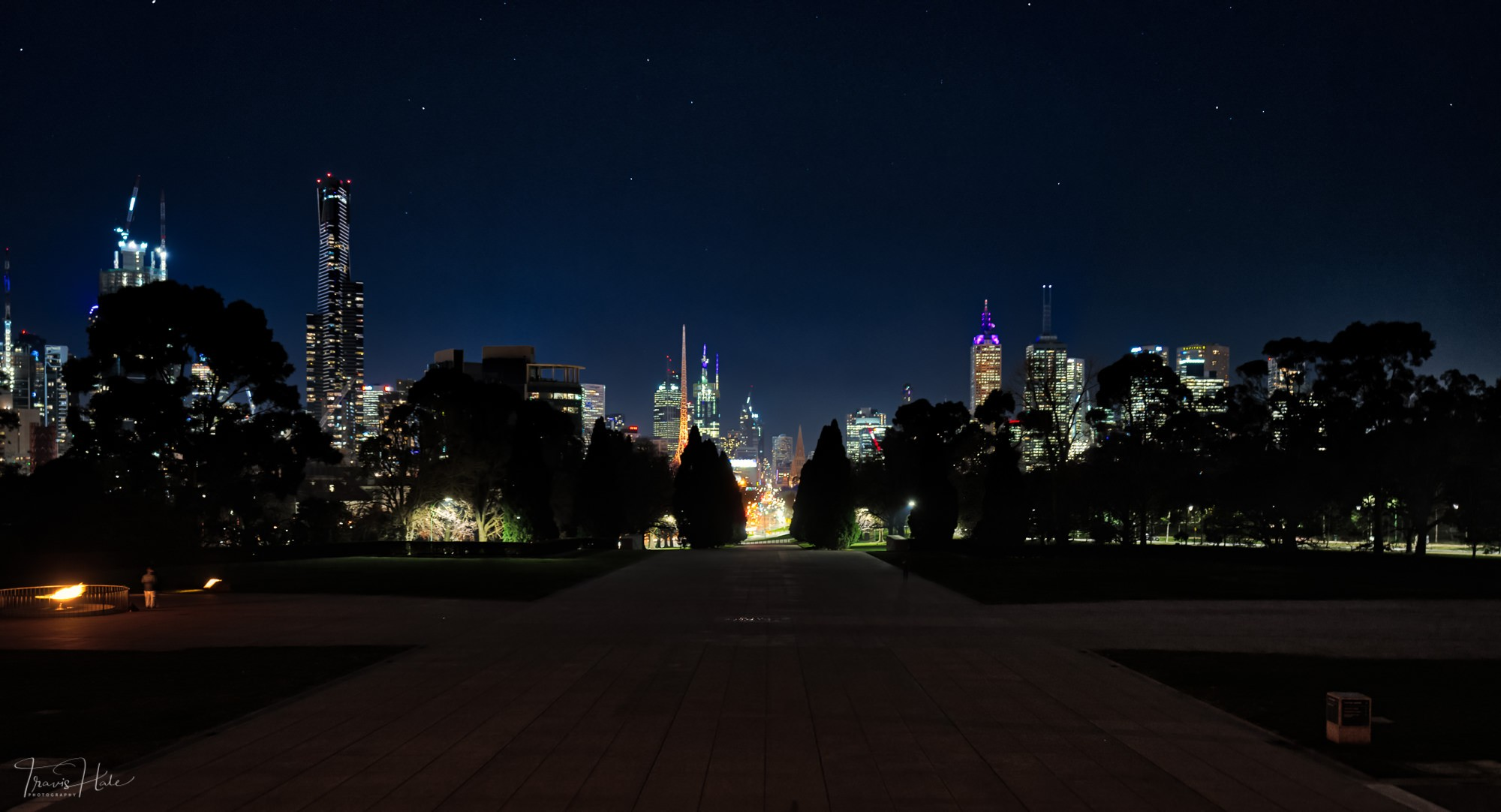 Melbourne Cbd From The Shrine Travis Hale Photography And